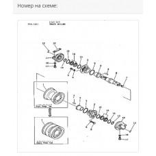Каток опорный однобортный 131-30-00322