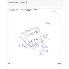 Режущая кромка ковша правая 2713-1228A