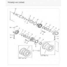 Каток опорный двубортный 175-30-00499
