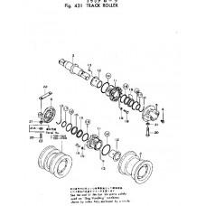 Каток опорный двубортный 175-30-00494