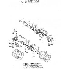 Каток опорный двубортный 175-30-00554