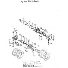 Каток опорный двубортный 175-30-00497