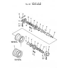 Каток опорный однобортный 131-30-00320