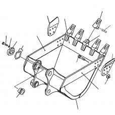 Адаптер ковша 208-934-5120
