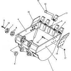 Адаптер ковша 21N-70-16120