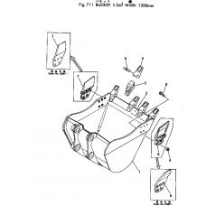 Адаптер ковша 207-70-14141