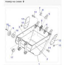 Адаптер ковша 206-70-58150