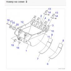 Адаптер ковша 21N-72-34140