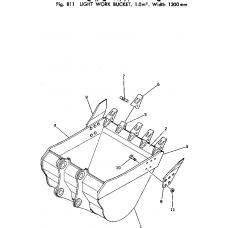 Адаптер ковша 206-70-48521